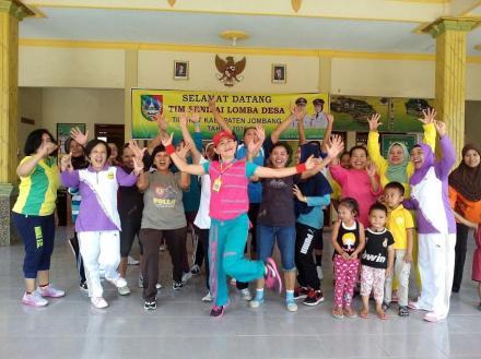 TP PKK Desa Pulosari aktif menjadikan Kabupaten Jombang Sebagai Kabupaten Olahraga.