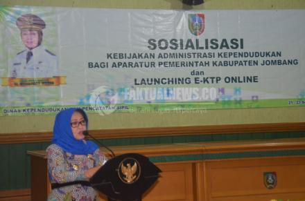 Pemkab Jombang Launching e-KTP Online
